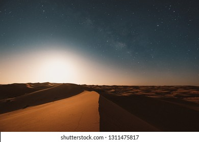 Moroccan landscape at night