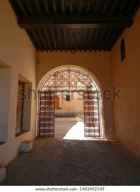 Moroccan Old Doors Andalusian Garden Rabat Stock Photo Edit