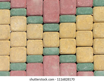 Moroccan Pavement - Red Yellow and Green - Marrakech