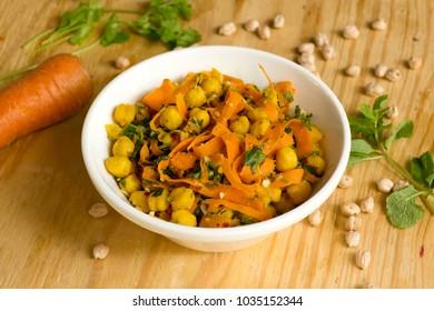 Moroccan salad is a healthy and tasty carrots and Kabuli chana salad.