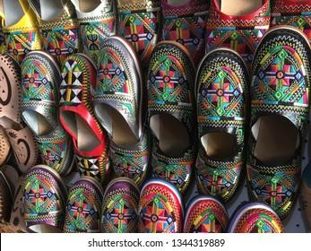 Moroccan slippers landscape