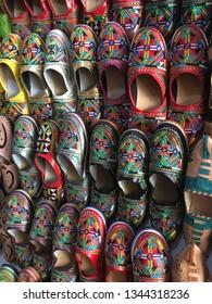 Moroccan slippers portrait