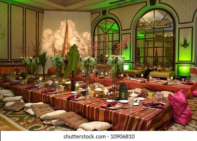 Moroccan Table setting at a luxury wedding reception