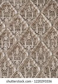 Moroccan tadelakt plaster pattern