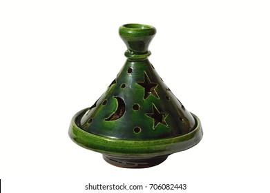 Moroccan tagine of ceramic as decoration item