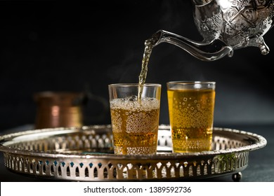 Moroccan tea from popular drinks in the Maghreb