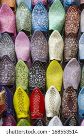 Moroccan traditional slippers, Morocco, Africa
