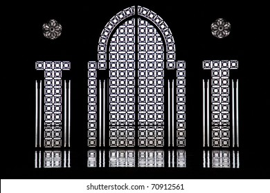 Moroccan Windows in a Mosque