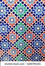 Moroccan Zellige tiles mosaic decorative