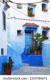 Morocco, blue city, street, blue background, trip, travel, sightseeing,