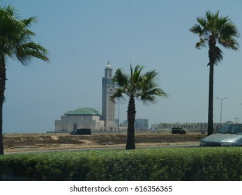 Morocco / Casablanca Mosque / picture showing the Hassan II Mosque in Casablanca, taken in August 2015.
