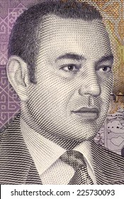 MOROCCO- CIRCA 1999: Mohammed VI of Morocco (born 1963) on 20 Dirhams 2005 Banknote from Morocco. King of Morocco since 1999.
