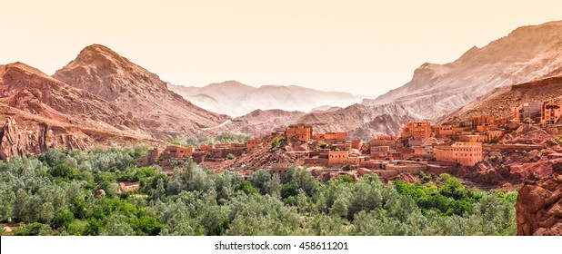 Morocco Dades Canyon Morocco with the Atlas mountains in the back