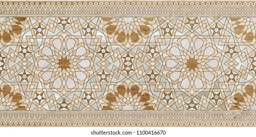 morocco marble tile geometric , Islamic art,marble wood ceramic tile wall wazara