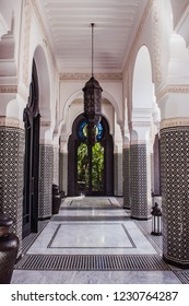 Morocco, Marrakech - september 22, 2018: Selman Marrakech, This 5-star hotel is located a 10-minute drive from the center of Marrakech.