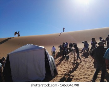 Morocco, Marzouga - 4 novembre 2018: John Wick 3 behind the scene.