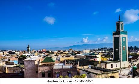 Morocco Meknes Skyline