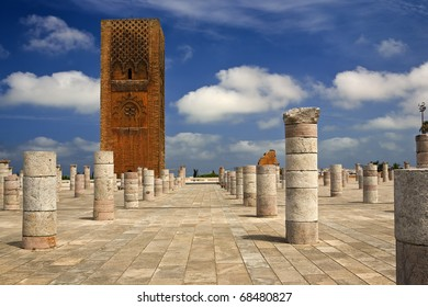 Morocco. Rabat. The Hassan Tower (Tour Hassan)