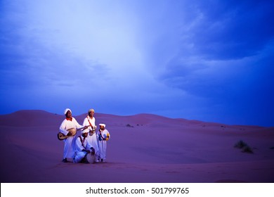 Morocco - Sept 27, 2011: Tuareg people in Sahara