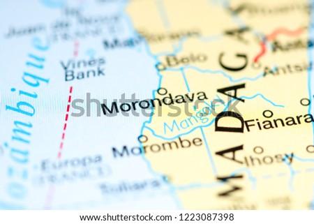 Morondava Madagascar Africa On Map Stock Photo Edit Now 1223087398