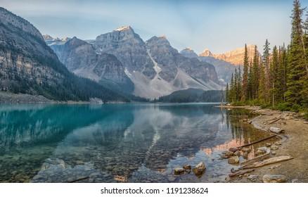 Morraine Lake during the Sunrise, Lake Louise, Banff national park, Alberta, Canada