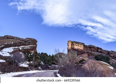 Morrison County, Colorado, USA - December 21, 2016:  Red Rocks Amphitheatre