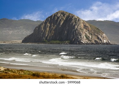 Morro Bay, California in the summer during late afternoon. Its a small quaint little town with the fame Morro Rock.