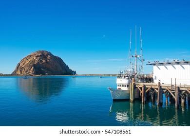 Morro Bay Harbor, Morro Bay Rock - San Luis Obispo, California Central Coast