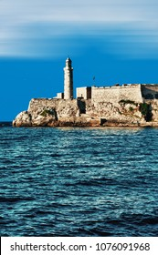 Morro castle lighthouse and entrance to the bay of Havana, Cuba