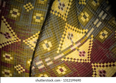 Morrocan fabric seen in village in Atlas Mountains