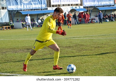 MORSHUN, UKRAINE - OCT 25: Luca Zidane in action during the UEFA Youth Champions League match between Shakhtar vs Real Madrid (U19), 25 October 2015, Ukraine