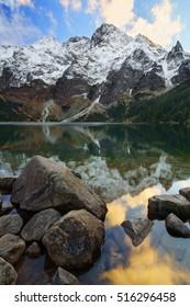 Morskie oko lake near Zakopane in the tatra mountains. Poland.