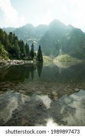 Morskie Oko lake (Tatra National Park, Poland)  - Shutterstock ID 1989897473