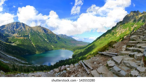 Morskie Oko is the largest and fourth deepest lake in the Tatra Mountains