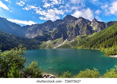 Morskie Oko is the largest and fourth deepest lake in the Tatra Mountain, Zakopane, Poland