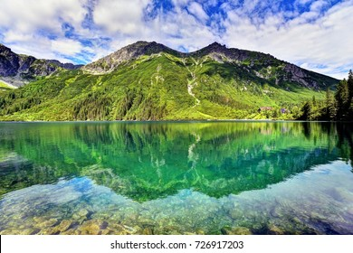 Morskie Oko is the largest and fourth-deepest lake in the Tatra Mountains, Zakopane, Poland