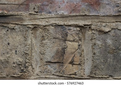 Mortar masonry, cement, concrete.