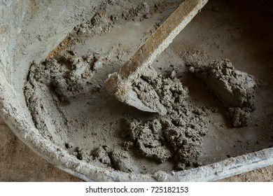 A mortar mixing with water and sand for used. Concrete mixing.
