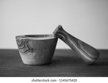 Mortar and Pestle Black and White