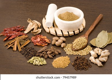 Mortar and Pestle with whole spices