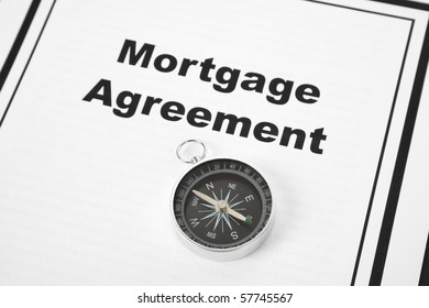 Mortgage Agreement and Compass close up
