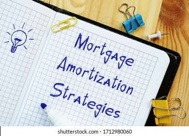 Mortgage Amortization Strategies phrase on the sheet.