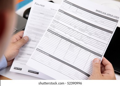 Mortgage Application Form in Agent Hand