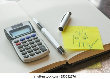 Mortgage and credit concept. Planning future.