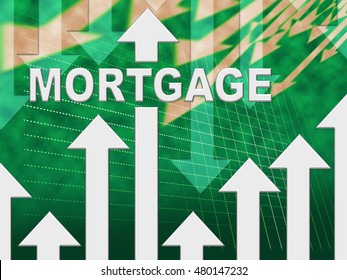 Mortgage Graph Showing Real Estate Home Loan