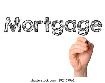 Mortgage handwritten on white board