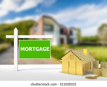 mortgage house sign