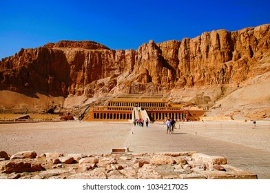 The Mortuary Temple of Hatshepsut, Is an ancient funerary shrine, Dedicated to the sun god Amon