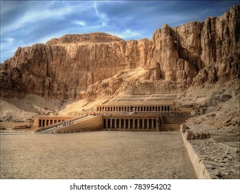 """The Mortuary Temple of Hatshepsut, also known as the Djeser-Djeseru (""""Holy of Holies""""), is an ancient funerary shrine in Upper Egypt."""