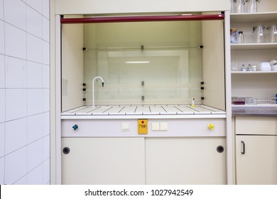 in the mortuary there is a lab ventilation cabinet for testing